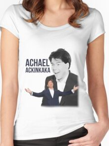 Michael McIntrye - Showtime - Achael Ackinkaka Women's Fitted Scoop T-Shirt