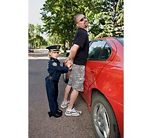 Daddy Under Arrest Photographic Print