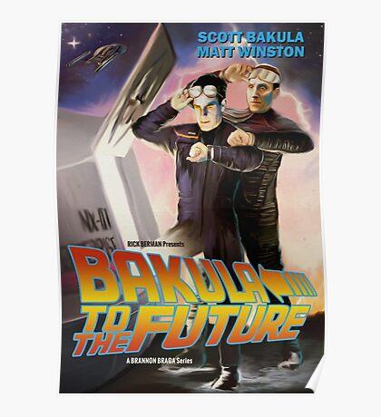 Bakula to the Future Poster