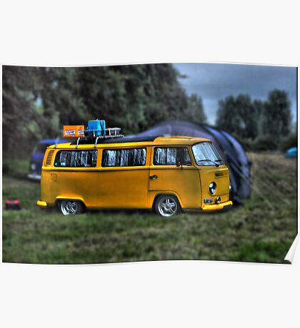 yellow dub bus Poster