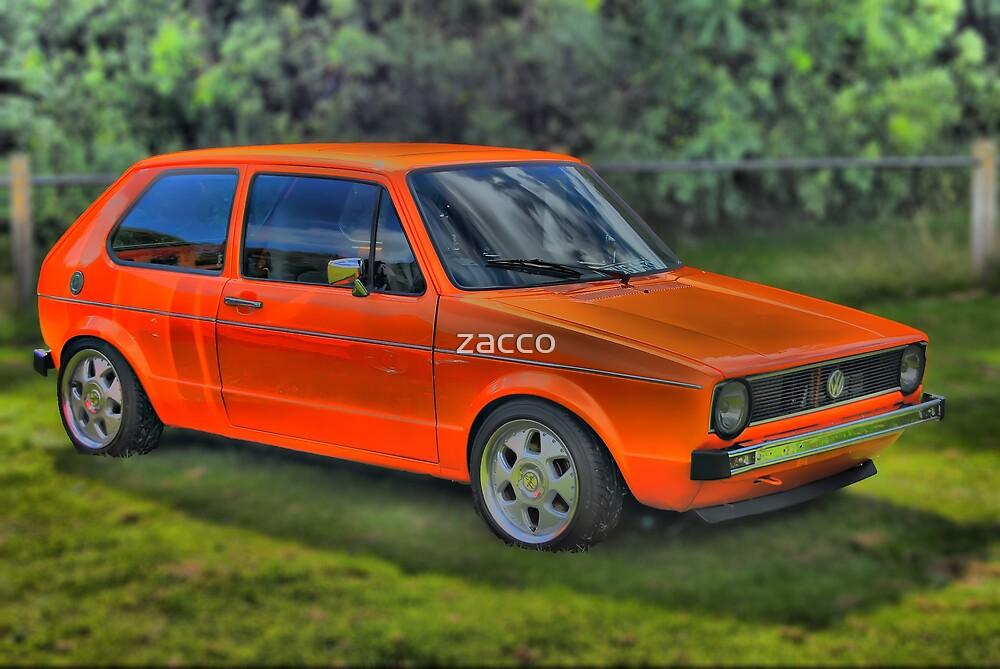 orange vw golf by zacco