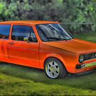 orange vw golf by zacco