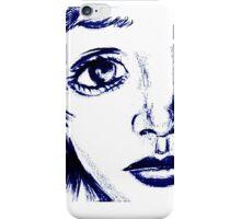 ANime girl face iPhone Case/Skin