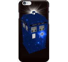 TARDIS Illustrated- Galactic Blue iPhone Case/Skin