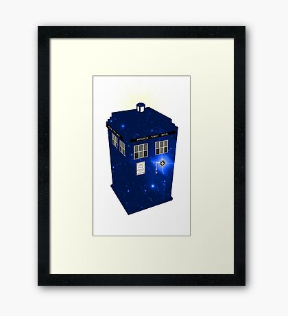 TARDIS Illustrated- Galactic Blue Framed Print