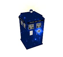 TARDIS Illustrated- Galactic Blue Photographic Print