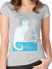 Le Chat Blanc Women's Fitted Scoop T-Shirt
