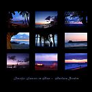 PACIFIC SUNSETS IN BLUE - Collage by Barbara Gordon