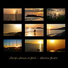 PACIFIC SUNSETS IN GOLD - Collage by Barbara Gordon
