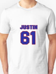 National Hockey player Justin Braun jersey 61 T-Shirt