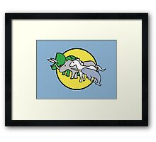 Horned Warrior Friends Framed Print