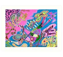 Pink Shore Art Print