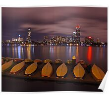 sailboats on the Charles Poster