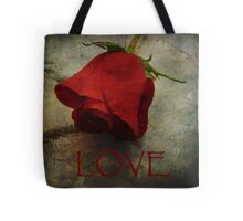 Love Textured Rose Romantic Series 1 Tote Bag