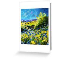 blue cornflowers in ver Greeting Card