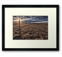 Benone Beach Posts Framed Print