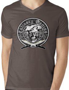Chef Skull 3.1: Culinary Genius Mens V-Neck T-Shirt