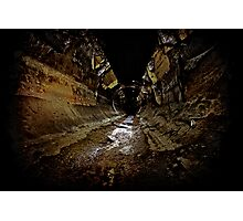 Why You Never Wallpaper a Sewer..... Photographic Print