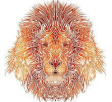 Tribal Lion by fantasticdrawer