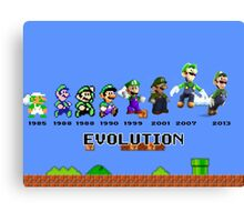 The Evolution of Luigi Canvas Print