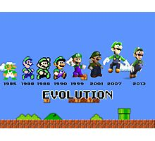 The Evolution of Luigi Photographic Print