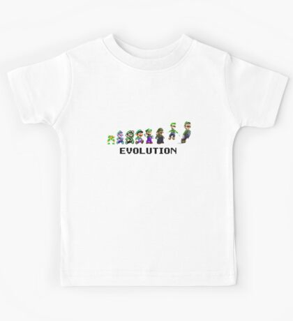 The Evolution of Luigi Kids Tee