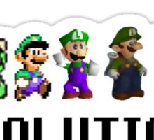 The Evolution of Luigi Sticker