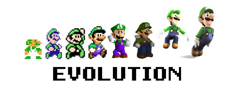 Quot the evolution of luigi quot mugs by bowserbasher redbubble