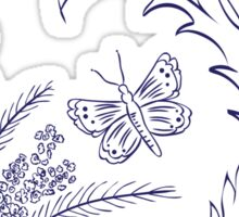 Butterfly with Floral 4 Sticker
