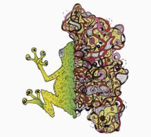 Psychedelly Frog One Piece - Long Sleeve