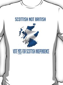 Yes to Scottish Independence T-Shirt