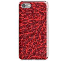 Pink hand drawn doodle pattern iPhone Case/Skin