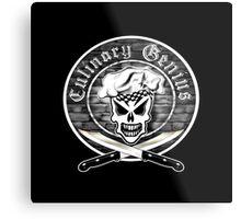 Chef Skull 2: Culinary Genius Metal Print