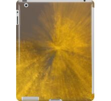burst of gold from grey sky iPad Case/Skin