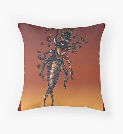Riparian Earwig (Illustration)- Throw Pillow