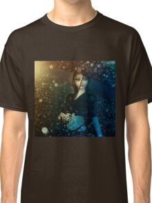 Girl in snowstorm Classic T-Shirt