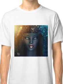 Girl in snowstorm 2 Classic T-Shirt