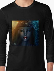 Girl in snowstorm 2 Long Sleeve T-Shirt