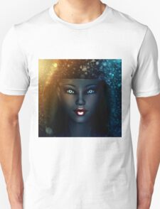 Girl in snowstorm 2 T-Shirt