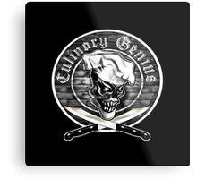 Chef Skull 5: Culinary Genius Metal Print