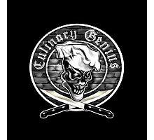 Chef Skull 5: Culinary Genius Photographic Print