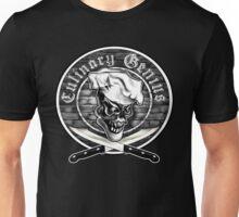 Chef Skull 5: Culinary Genius Unisex T-Shirt