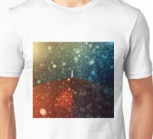 Red umbrella in snowstorm Unisex T-Shirt