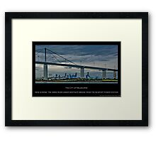 Melbourne & Westgate Bridge Framed Print