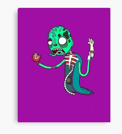 Carnihell #6 green saw man Canvas Print