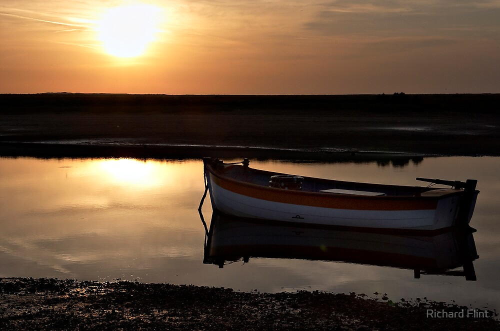 Sunset at Burnham Overy Staithe, Norfolk, UK by Richard Flint