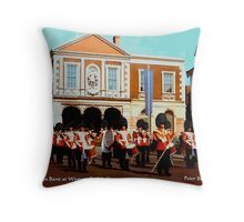 The Guards Band at Windsor Guildhall Throw Pillow
