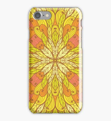 Yellow and green floral ornament iPhone Case/Skin