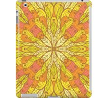 Yellow and green floral ornament iPad Case/Skin