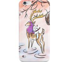 Kitsune warrior on winter's eve iPhone Case/Skin